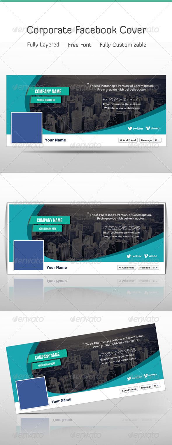 GraphicRiver Corporate Facebook Timeline 7417464