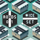Isometric Roads on Frozen Terrain - GraphicRiver Item for Sale
