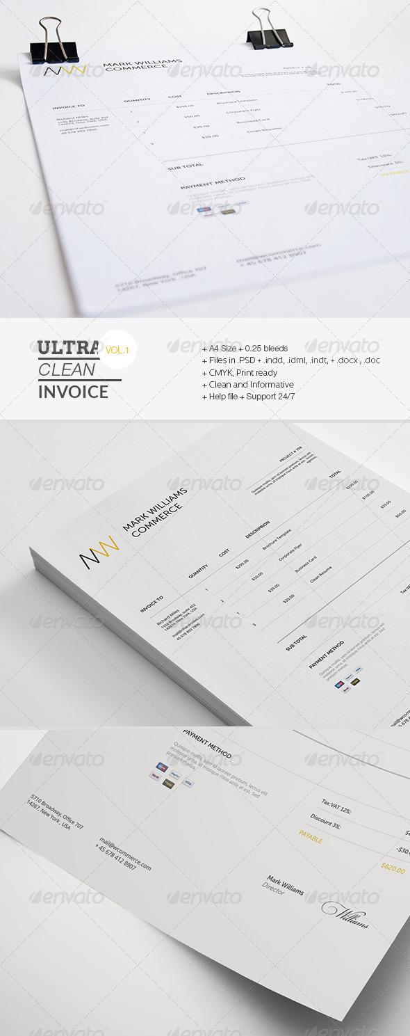 GraphicRiver Ultra Clean Invoice 7405827