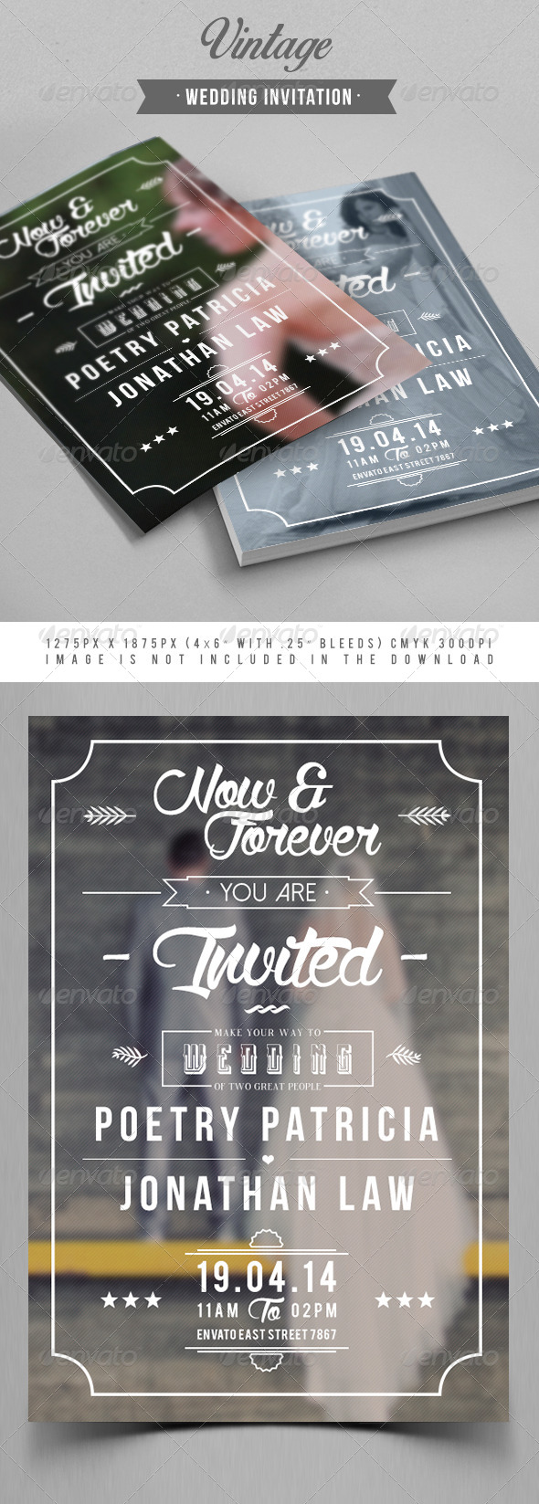 GraphicRiver Vintage Wedding Invitation 7417731
