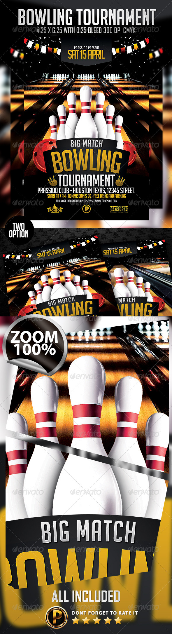 GraphicRiver Bowling Tournament Flyer Template 7417978
