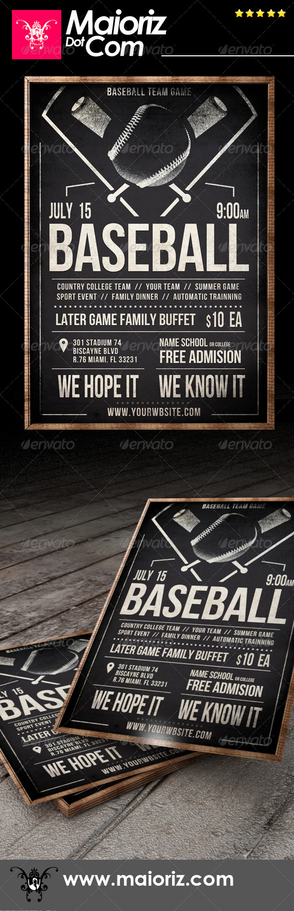 GraphicRiver Vintage Baseball Flyer 7417981