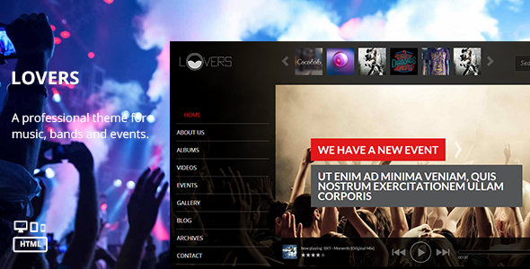 ThemeForest Lovers Music HTML Template 7359248
