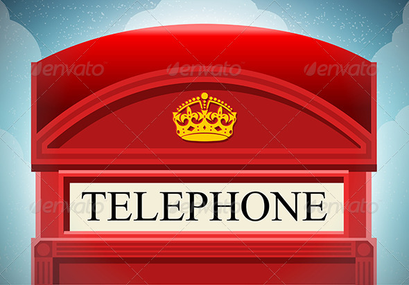 GraphicRiver English Red Telephone Cabin 7419360