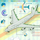 Infographic Set Elements with Airplane - GraphicRiver Item for Sale