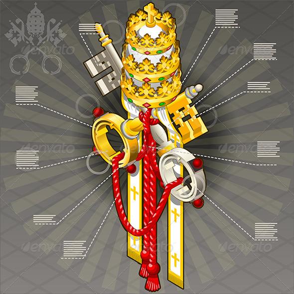 GraphicRiver Isometric Infographic of Vatican Coat of Arm 7419417