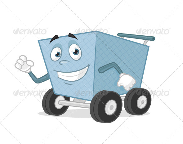 GraphicRiver Shopping Cart Mascot 7420029