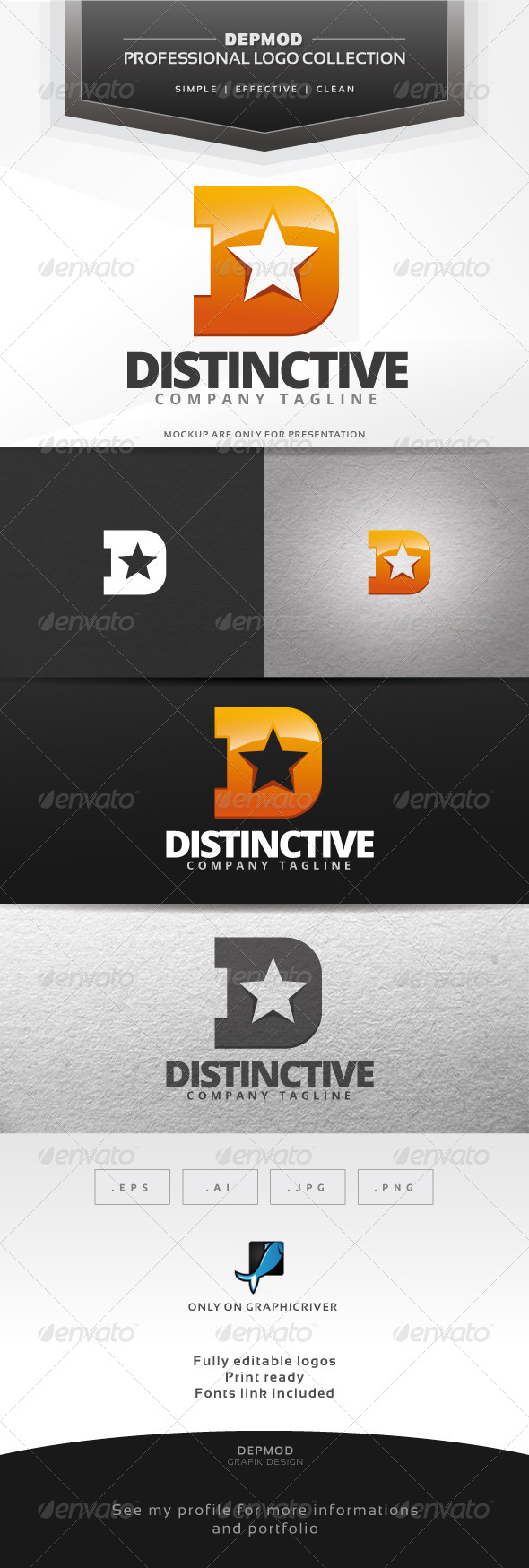 GraphicRiver Distinctive Logo V.02 7420268