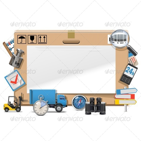 GraphicRiver Vector Delivery Board 7420312
