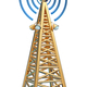 digital transmitter sends signals from high tower - PhotoDune Item for Sale