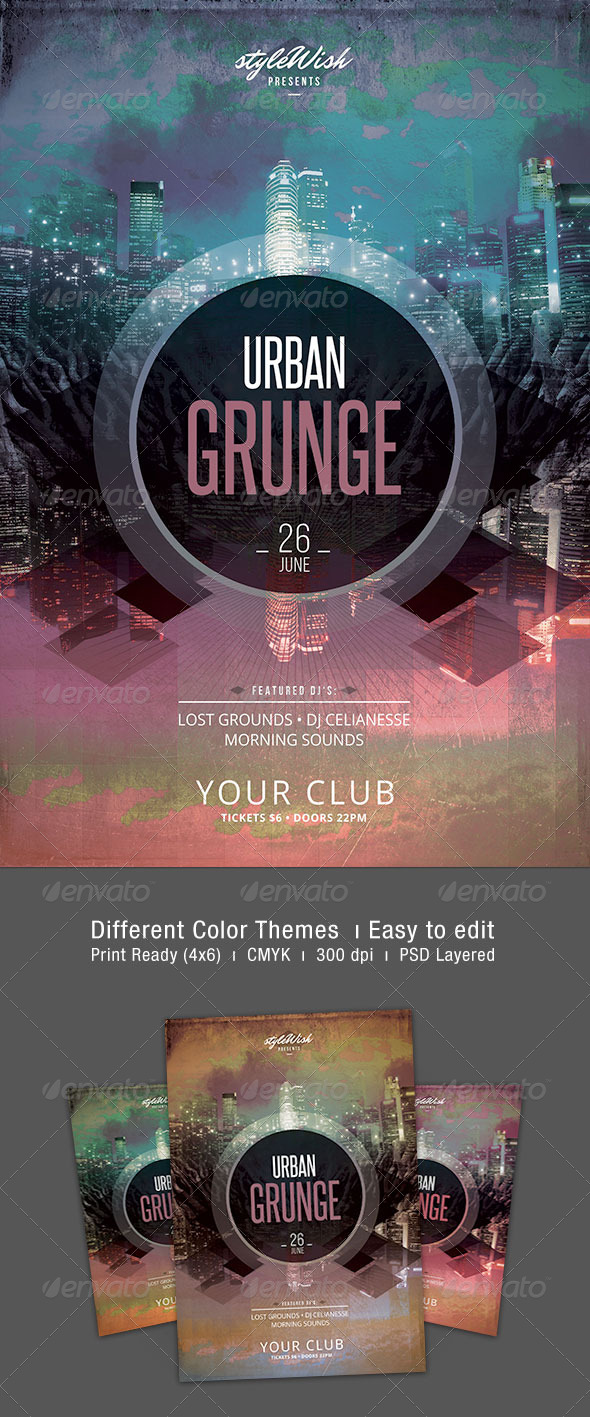 GraphicRiver Urban Grunge Flyer 7420439