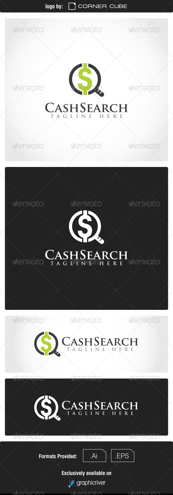 GraphicRiver Cash Search Logo 7420807