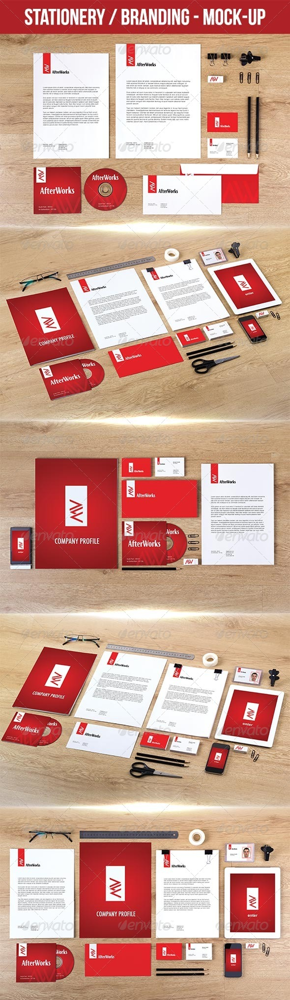 GraphicRiver Stationery Branding Mock-Up 7420809
