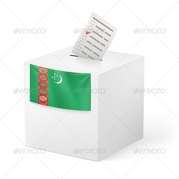 GraphicRiver Ballot Box with Voting Paper Turkmenistan 7420863