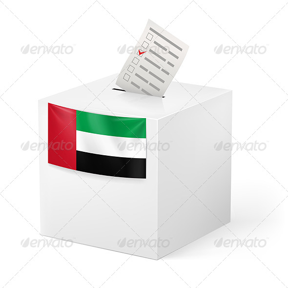 GraphicRiver Ballot Box with Voting Paper United Arab Emirates 7420866