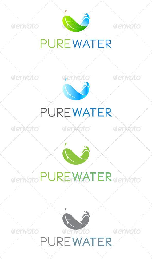 GraphicRiver Pure Water Logo 7420880