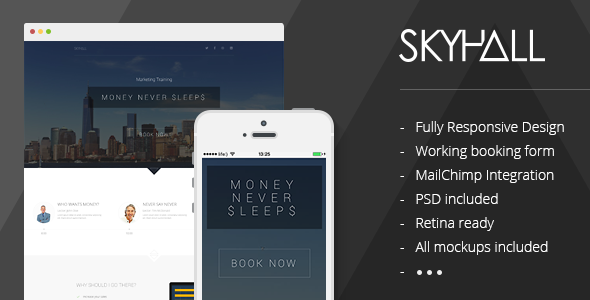 ThemeForest Skyhall Business Event Landing Page 7358223