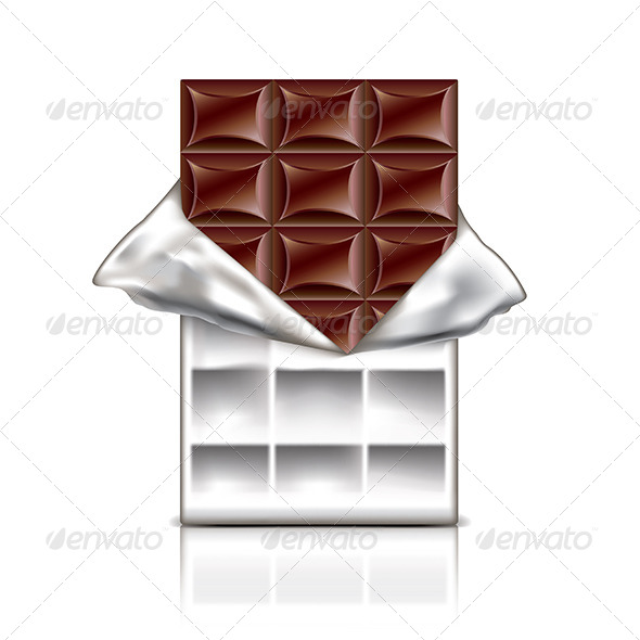 GraphicRiver Chocolate Bar in Foil Vector Illustration 7421141