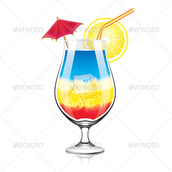 GraphicRiver Colourful Cocktail Vector Illustration 7421143