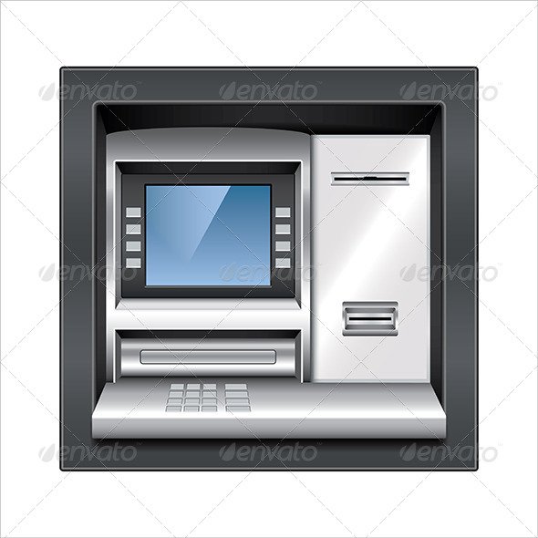 GraphicRiver ATM Machine Vector Illustration 7421144