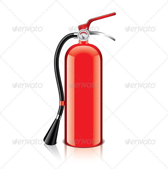 GraphicRiver Fire Extinguisher Vector Illustration 7421152