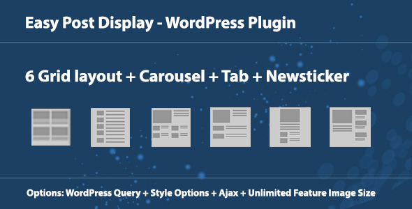 CodeCanyon Easy Post Display WordPress Plugin 7384332