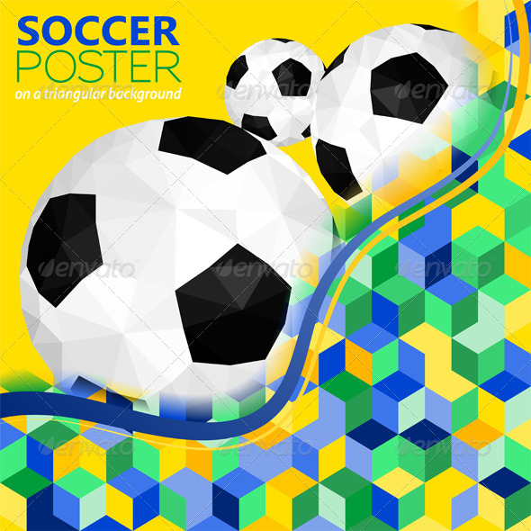 GraphicRiver Soccer Background 7421214