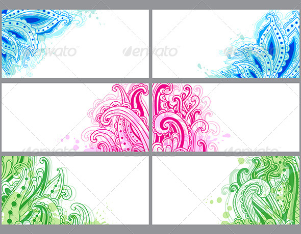 GraphicRiver Decorative Abstract Cards 7421218