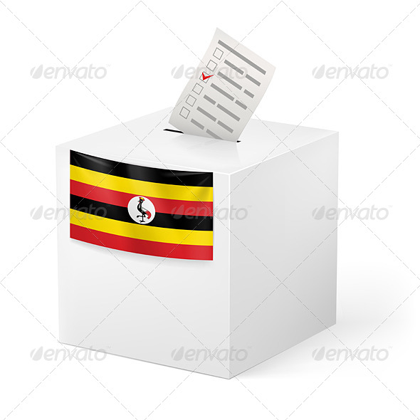 GraphicRiver Ballot Box with Voting Paper Uganda 7421369