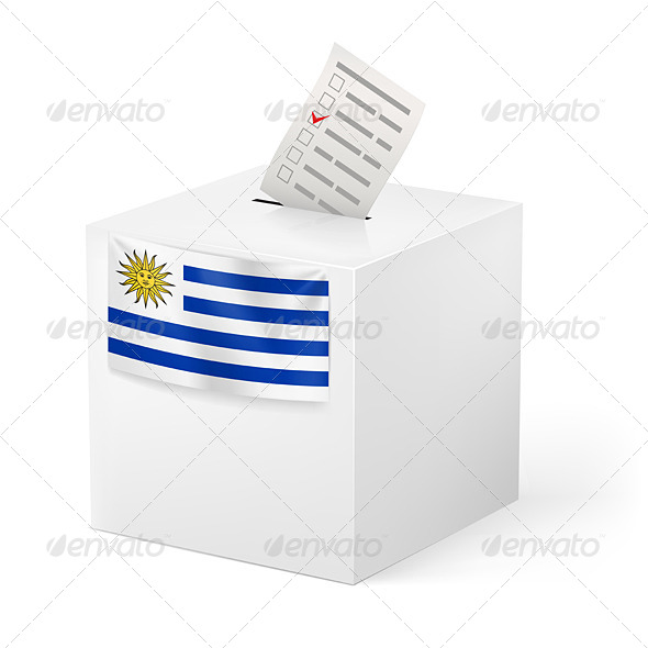 GraphicRiver Ballot Box with Voting Paper Uruguay 7421372