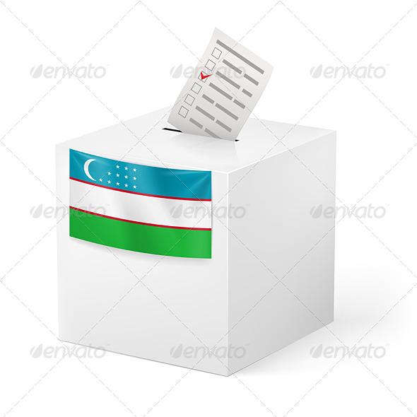 GraphicRiver Ballot Box with Voting Paper Uzbekistan 7421376