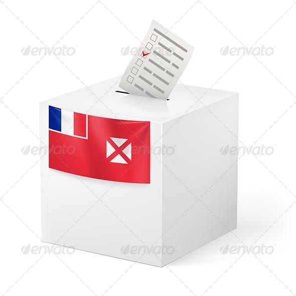 GraphicRiver Ballot Box with Voting Paper Wallis and Futuna 7421545
