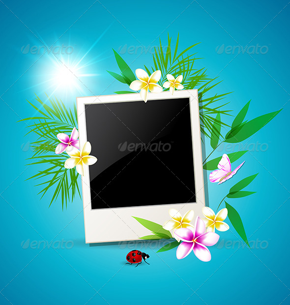 GraphicRiver Summer Tropical Background 7421560
