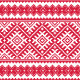 Ukrainian Red Seamless Folk Embroidery Pattern - GraphicRiver Item for Sale