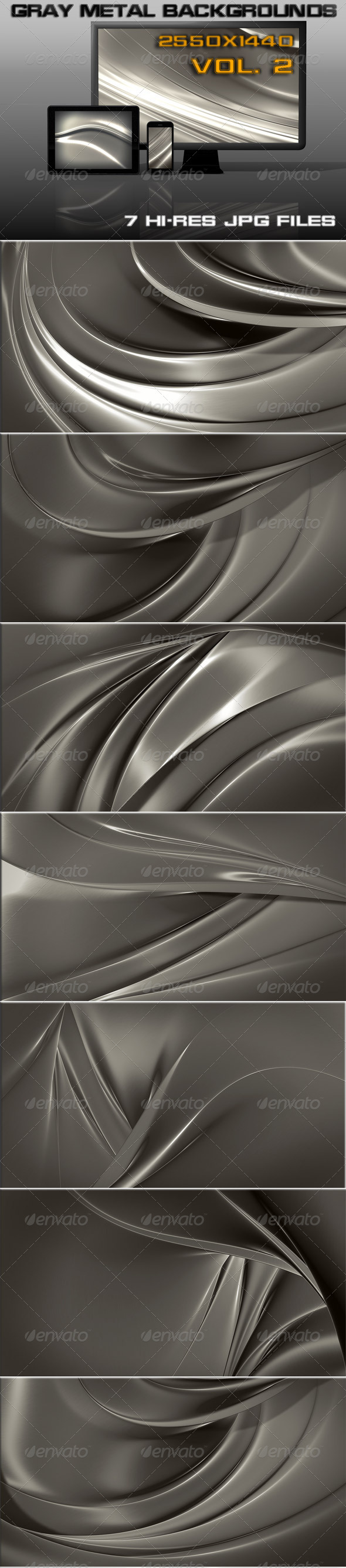 GraphicRiver Gray Metal Web Background 7421603
