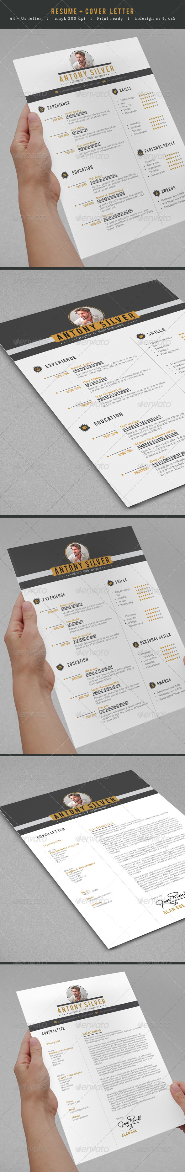 GraphicRiver Professional Resume 7422323