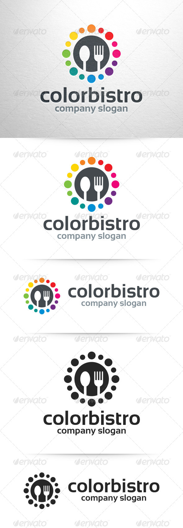GraphicRiver Color Bistro Logo Template 7422322