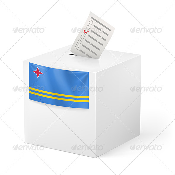 GraphicRiver Ballot Box with Voting Paper Aruba 7422324