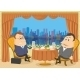 Businessmen in Restaurant - GraphicRiver Item for Sale