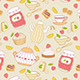 Seamless Pattern with Tea and Fruits - GraphicRiver Item for Sale