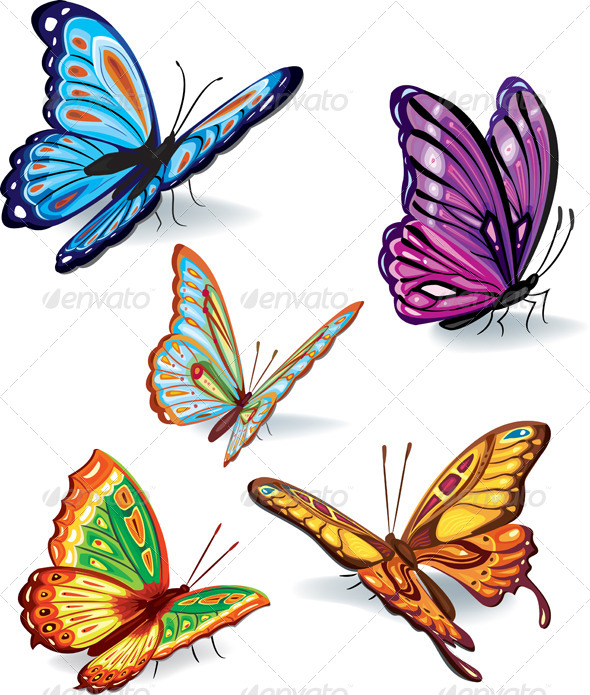 GraphicRiver Set of Butterflies 7422539