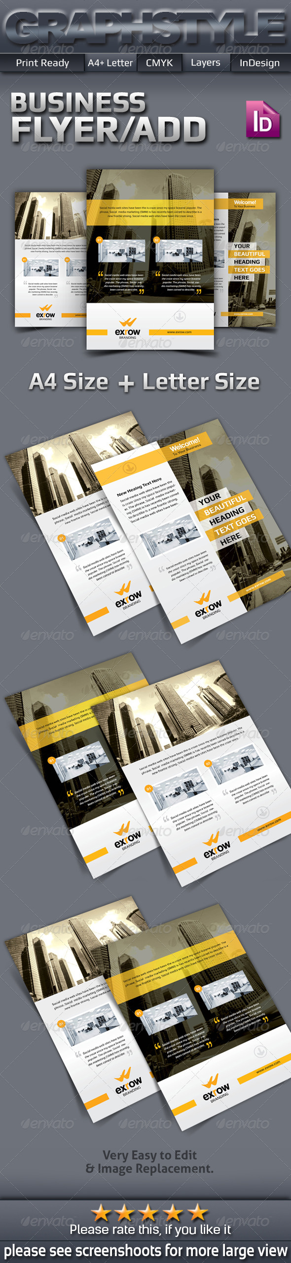 GraphicRiver Exrow Corporate Business Flyer Ads 7422568