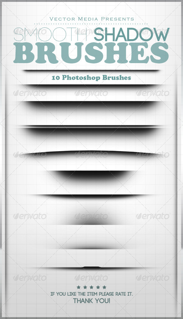 GraphicRiver Smooth Shadow Photoshop Brushes 7422652