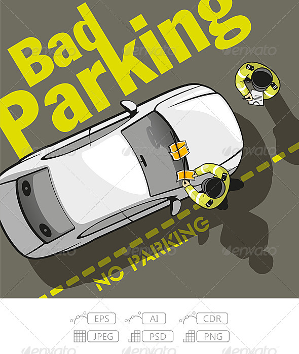 GraphicRiver Bad Parking 7422666