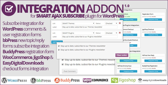 CodeCanyon Smart AJAX Subscribe Integration Addon 7422887