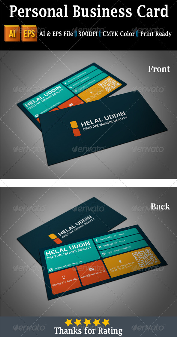 GraphicRiver Personal Business Card 7397008