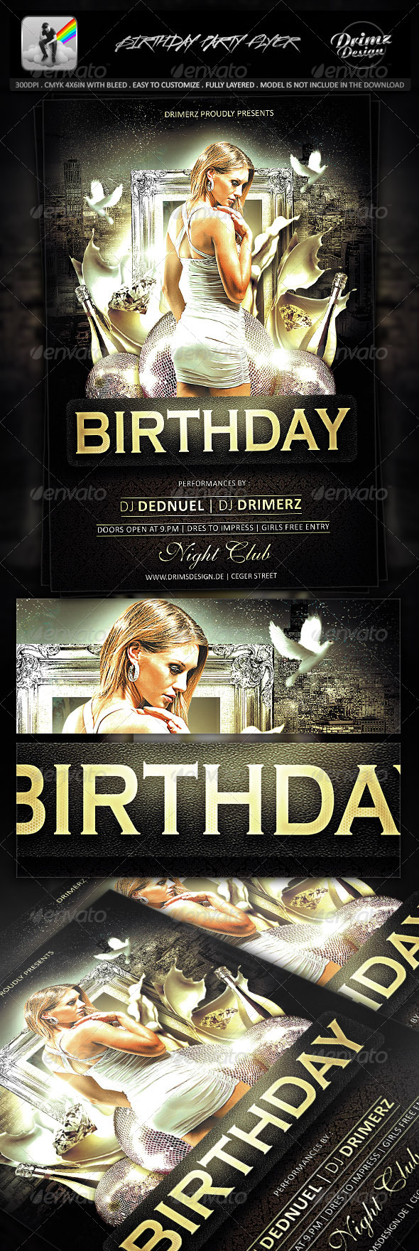 GraphicRiver Birthday Party Flyer 7423098