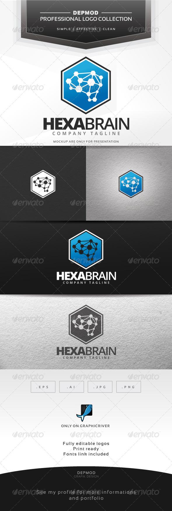 GraphicRiver Hexa Brain Logo 7423164
