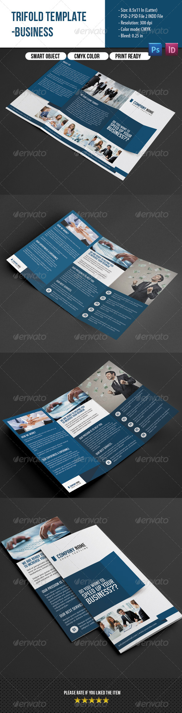 GraphicRiver Trifold Brochure-Business 7423237