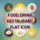 Flat Icons for Food and Drink - GraphicRiver Item for Sale
